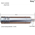 Kary 24v dc brushless submersible solar borehole pump for agriculture