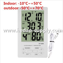 Fast shipping Indoor/Outdoor Wireless Clock Calendar Thermometer