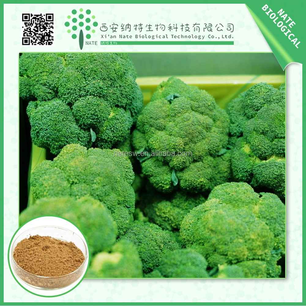 Anti-cancer Anti-oxidant, Anti-radiation free sample Broccoli Extract powder 10:1 20:1 low price