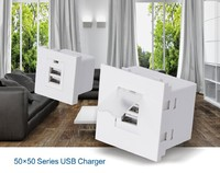 2.1A Wall Plate Charger Outlet Socket Receptacle with Dual USB Ports