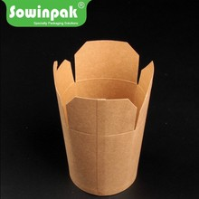 26oz kraft top foldable paper pasta and boodle boxes packaging price