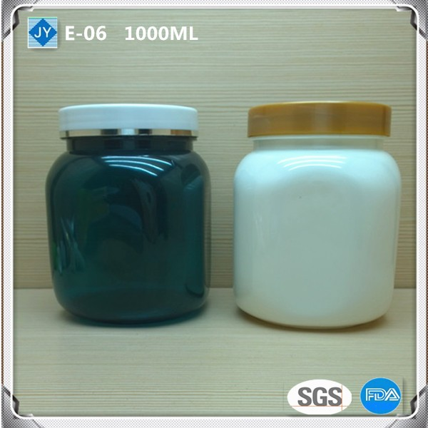 1000ml 32oz large Square Wholesale pet Plastic Jars food grade for Cosmetics/Candy/Honey/Tea/Seasoning/ Spice