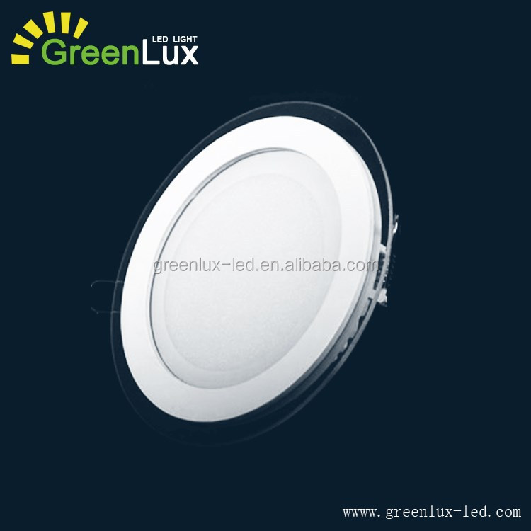 AC85-265V Round Panel Lights New Glass Ceiling Panel Crystal Lamp 4inch 5W LED Ceiling Light LED Modern Ceiling Design