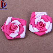 Made in China wedding invitations 2 colors making rose flower satin ribbon bow for clothing decoration