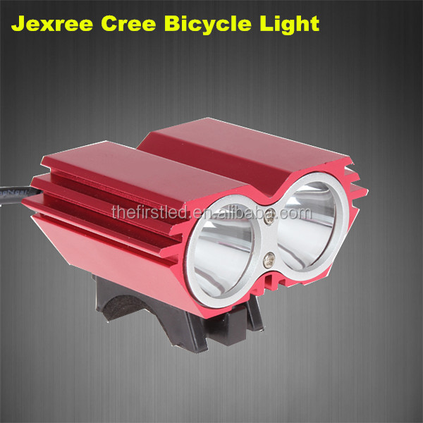 JEXREE Cree XM-L2 1800LM waterproof design Led rechargeable led light <strong>bike</strong>