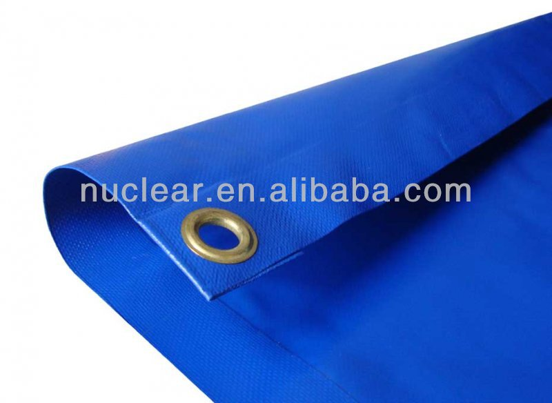 Steel Eyelets Reinforced Heated Welding Vinyl Poly Tarp Fabric