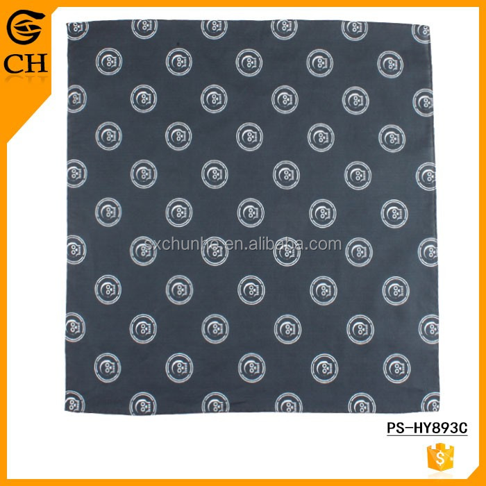 Screen Print Skull Pattern Men Cotton Big Handkerchiefs 41*41