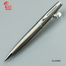 China Wholesale Good Bussiness Gift Electroplating Gold And Silver Color Metal Ball Pen With Printing Logo