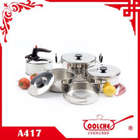 8 pcs 18 8 Stainless Steel Travel Camping Cookware Set