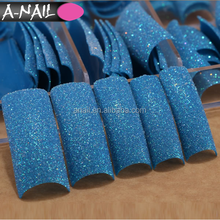 70 PCS 3 Colors Bling Glitter Acrylic Gel French Full Cover Artificial False Nail Tips With Box