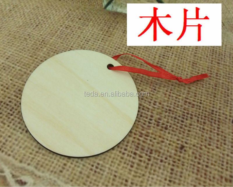 2014Teda wholesale blank hang blank wood tags circle wooden gifts