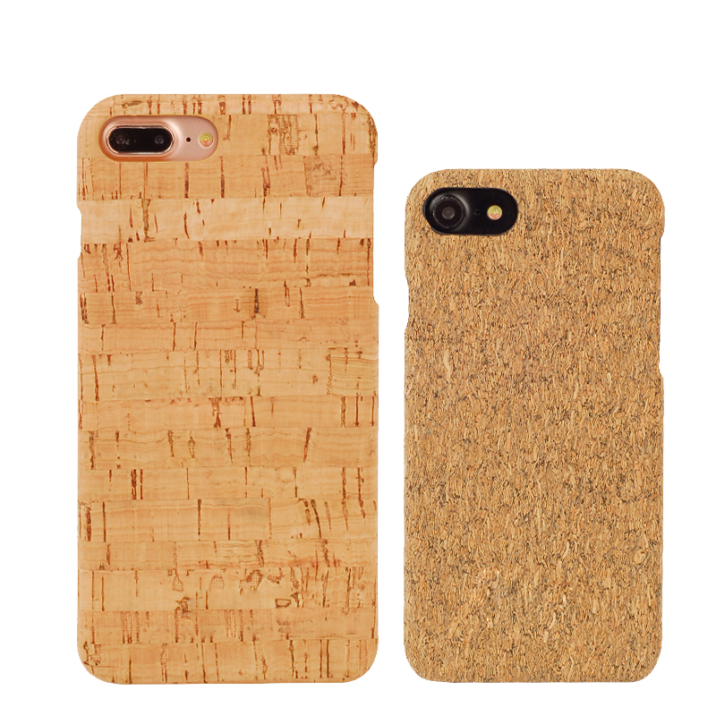 Fashion Wood Grain Natural Cork Soft Phone Case For iPhone 7 7 Plus