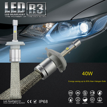 Wholesale headlight H1 H3 H4 H7 H8 H9 H11 H13 9004 9007 9005 9006 available super bright r3 automotive 40w led bulbs for car