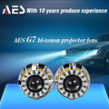 AES-G7 LED lutas angel eye projector lens kit, bi xenon hid projector len