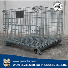 Folding Warehouse Stainless Steel Wire Storage Basket