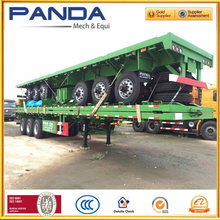 Widely used 20ft containers chassis trailer,40ft flatbed container semi trailer (skeleton style available)