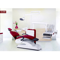 Dental Chair Unit with LED sensor lamp light cure and scaler,CE