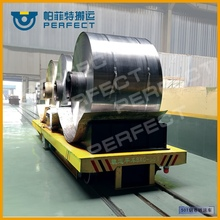 electric flat rail car 20t for transporting tank