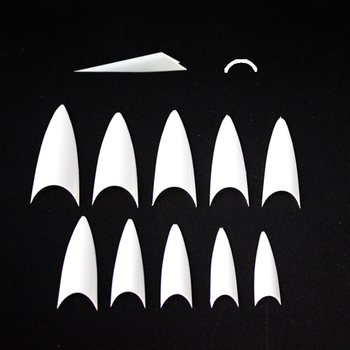 500pcs factory price white cusp half cover acrylic ABS lady false nail tips