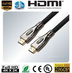 High speed HDMI cable 2.0,support 2160P,3D,4K,ARC, ideal for HDTV,PS3,blu-ray,HDMI