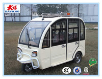 2015 perfect design durable800w closed electric passenger taxi tricar