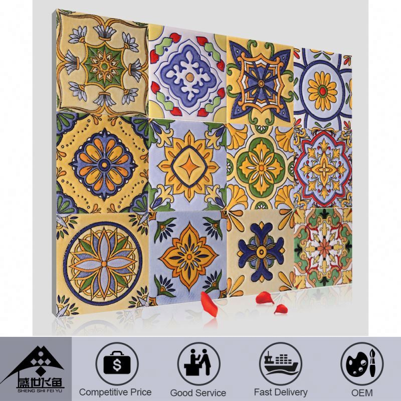 Hottest Pretty Custom Fitted Price Cutting Ceramic Tiles Factories In China Frames With Decorative Tiles