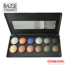 Professional 12 colour baked eye shadow powder private label 12 color baked eyeshadow palette