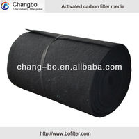 Activated carbon filter/good filtration activated carbon filter media roll