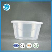 Good quality high temperature plastic bento box round food lunch case disposable meal packs container