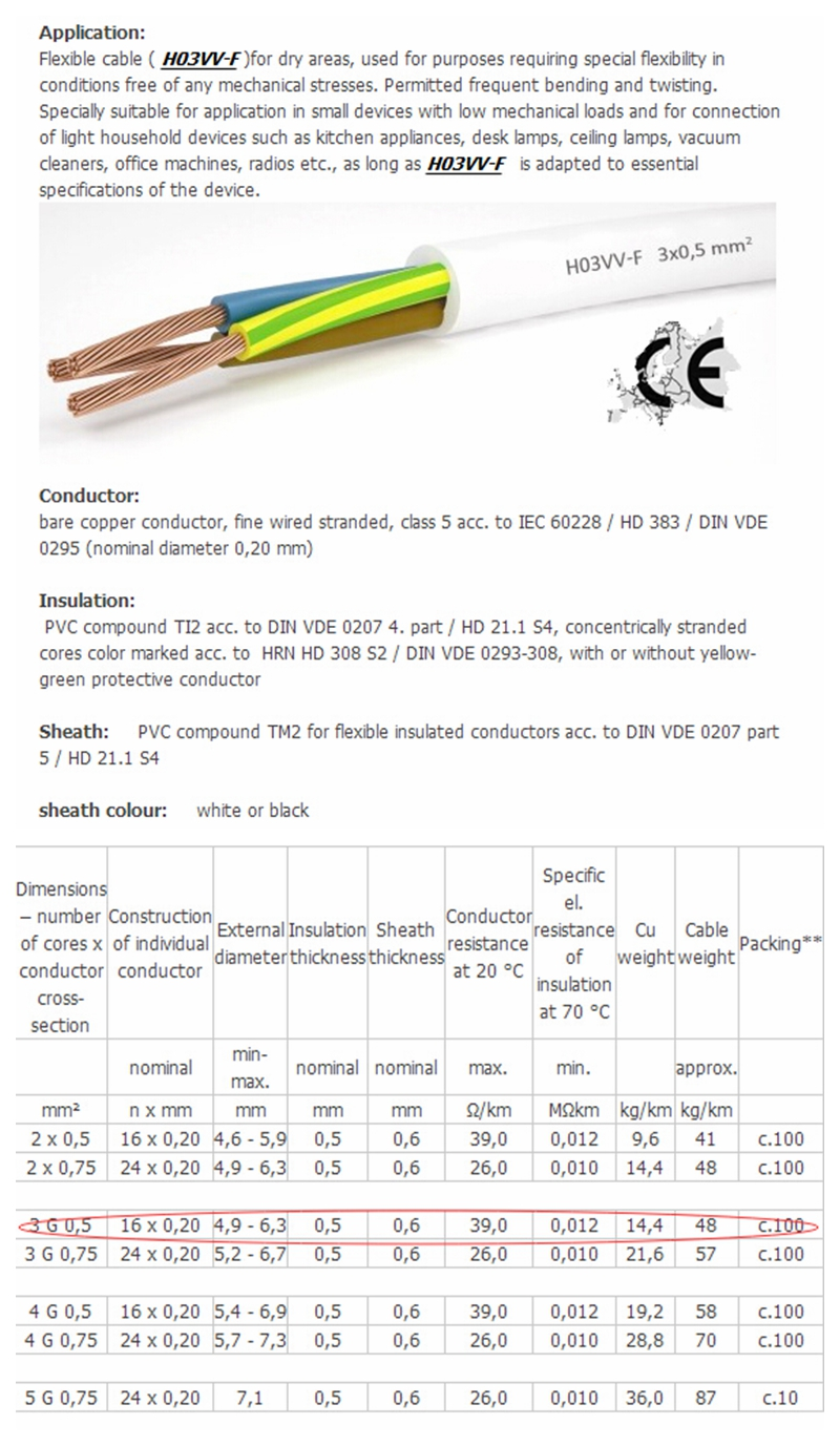 House wiring cable sizes in sri lanka 3 x 05 mm2 h03vvf electric wire cable making machine view wire keyboard keysfo Images