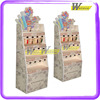 4 tier cardboard hook Cosmetics display stand for lipstick display
