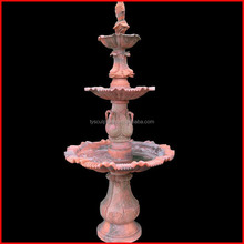 Big stone carved three tier ornamental fish water fountain sculpture crane fountain