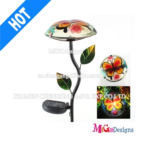 Solar Deck Lights Newest Solar Powered Garden Butterfly Mushroom Stake LED Lights- MG1100208