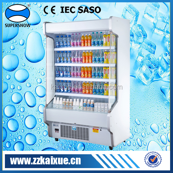 Vertical type commercial cooler with air curtain