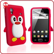 Novetly Penguin Skin Stylish Silicone Gel Cover Rubber Case for Samsung S5830 Galaxy Ace
