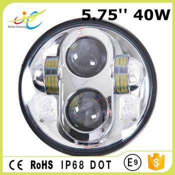 Chinese factory sales high low beam 40w 5.75inch led head lights for harley motorcycle