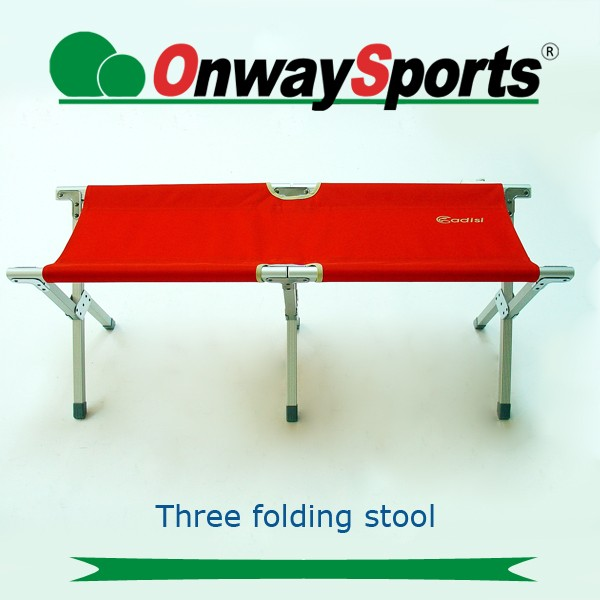 OnwaySports Durable 630D fabric double camping chair aluminum folding stool