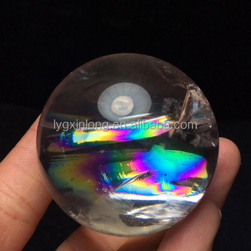 2017 Hot Natural rainbow quartz crystal ball/ sphere for sale - Home decotation