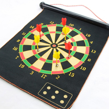 15 inch Roll-Up Magnetic Dartboard color box packing for children and for kids safe darts