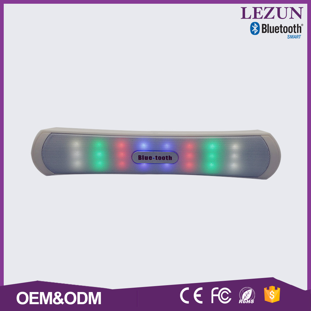 FM radio TF card super bass stereo computer connected bluetooth speaker with led