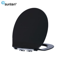 Factory Supplier Ultra Slim Quick Release Black Cera Toilet Seat Covers