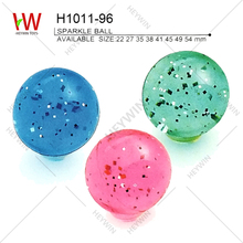 22/27/35/38/41/45/49/54mm SPARKLE BALL bounce marble ball promotional items toys present festival gift souvenir (H1011-96)