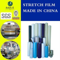best selling chromatic LLDPE stretch film/anti-scattering wrap film/strong tension hand roll film