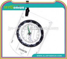 hiking orienteering all in 1 map scale compass ,H0T031 compass with key ring , cheap promotion key chains
