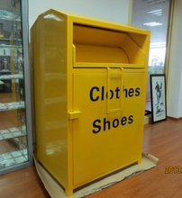 Assembly type clothing Bins Yellow Recycling bins