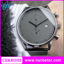 Wholesale High quality sapphire crystal custom logo brand men watch with 5 atm water resistant stainless steel