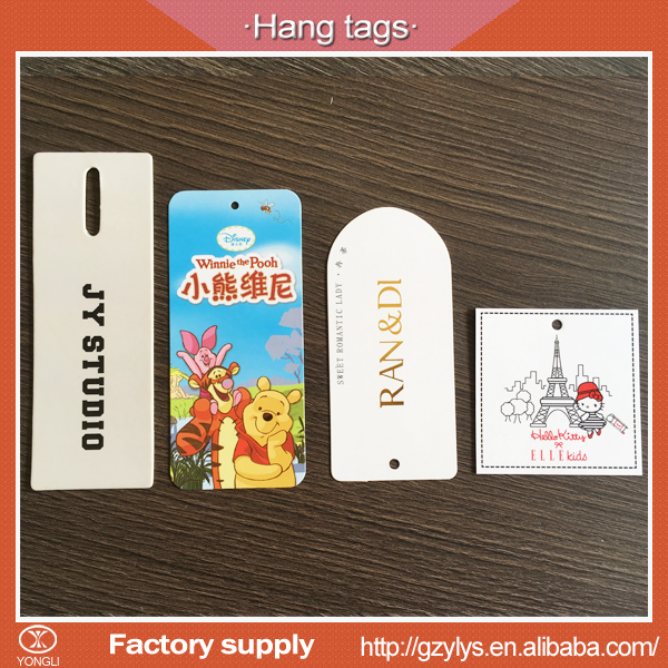 China custom price hang tags for clothing