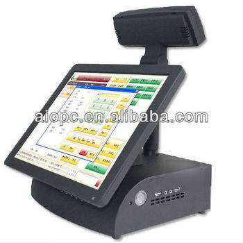 15 Inch LED Touch Screen All in One POS Operating System
