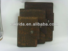 Embossed leather book covers