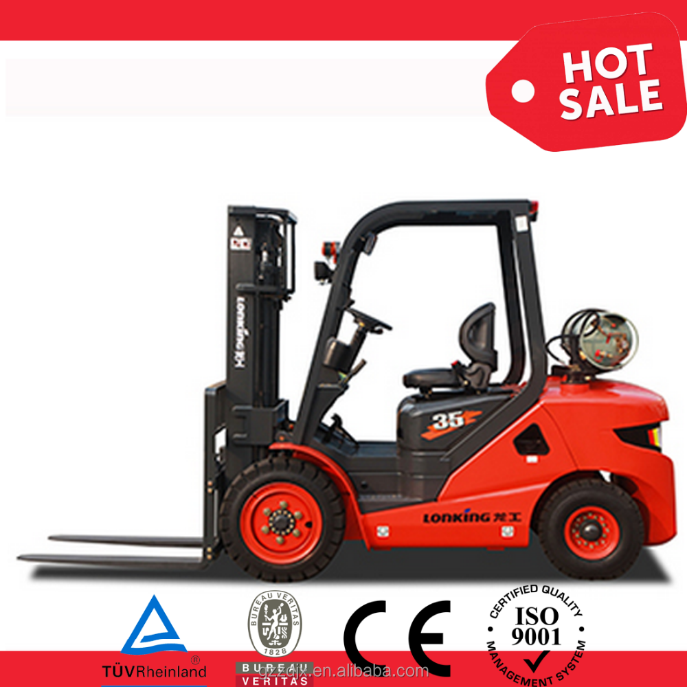 LPG/gasoline fork lift, 3.5Ton fork lift,nissan engine